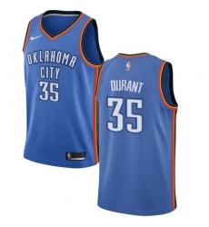 Youth Nike Oklahoma City Thunder #35 Kevin Durant Swingman Royal Blue Road NBA Jersey - Icon Edition