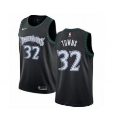 Men's Nike Minnesota Timberwolves #32 Karl-Anthony Towns Authentic Black Hardwood Classics Jersey