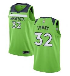 Women's Nike Minnesota Timberwolves #32 Karl-Anthony Towns Swingman Green NBA Jersey Statement Edition