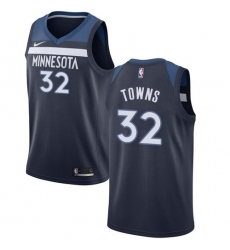 Women's Nike Minnesota Timberwolves #32 Karl-Anthony Towns Swingman Navy Blue Road NBA Jersey - Icon Edition