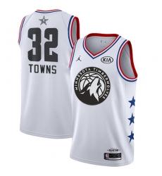 Women's Nike Minnesota Timberwolves #32 Karl-Anthony Towns White NBA Jordan Swingman 2019 All-Star Game Jersey