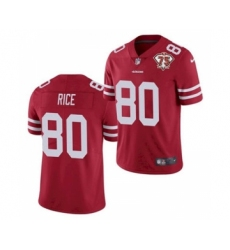 Men's San Francisco 49ers #80 Jerry Rice Red 2021 75th Anniversary Vapor Untouchable Limited Jersey