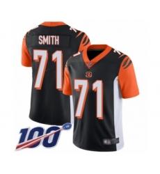 Men's Cincinnati Bengals #71 Andre Smith Black Team Color Vapor Untouchable Limited Player 100th Season Football Jersey