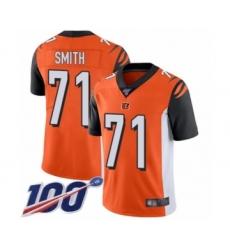 Men's Cincinnati Bengals #71 Andre Smith Orange Alternate Vapor Untouchable Limited Player 100th Season Football Jersey