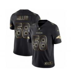 Men Denver Broncos #58 Von Miller Black Golden Edition 2019 Vapor Untouchable Limited Jersey