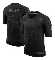 Men's Denver Broncos #58 Von Miller Black Nike 2020 Salute To Service Limited Jersey