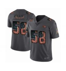 Men's Denver Broncos #58 Von Miller Limited Black USA Flag 2019 Salute To Service Football Jersey