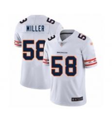 Men's Denver Broncos #58 Von Miller White Team Logo Fashion Limited Football Jersey