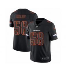 Men's Nike Denver Broncos #58 Von Miller Limited Black Rush Impact NFL Jersey