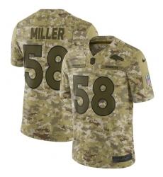 Men's Nike Denver Broncos #58 Von Miller Limited Camo 2018 Salute to Service NFL Jersey