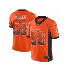 Men's Nike Denver Broncos #58 Von Miller Limited Orange Rush Drift Fashion NFL Jersey