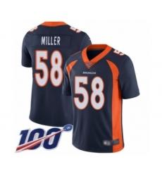 Men's Nike Denver Broncos #58 Von Miller Navy Blue Alternate Vapor Untouchable Limited Player 100th Season NFL Jersey