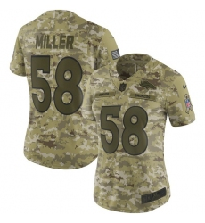 Women's Nike Denver Broncos #58 Von Miller Limited Camo 2018 Salute to Service NFL Jersey