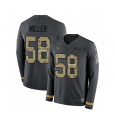 Youth Nike Denver Broncos #58 Von Miller Limited Black Salute to Service Therma Long Sleeve NFL Jersey