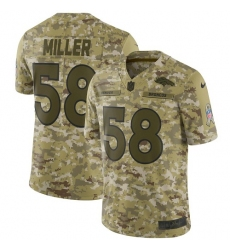 Youth Nike Denver Broncos #58 Von Miller Limited Camo 2018 Salute to Service NFL Jersey