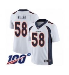 Youth Nike Denver Broncos #58 Von Miller White Vapor Untouchable Limited Player 100th Season NFL Jersey