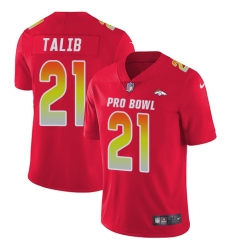 Youth Nike Denver Broncos #21 Aqib Talib Limited Red 2018 Pro Bowl NFL Jersey