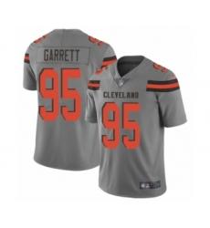 Men's Cleveland Browns #95 Myles Garrett Limited Gray Inverted Legend Football Jersey