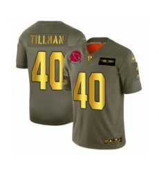 Men's Arizona Cardinals #40 Pat Tillman Limited Olive Gold 2019 Salute to Service Football Jersey
