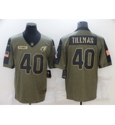 Men's Arizona Cardinals #40 Pat Tillman Nike Olive 2021 Salute To Service Limited Player Jersey