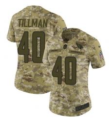 Women's Nike Arizona Cardinals #40 Pat Tillman Limited Camo 2018 Salute to Service NFL Jersey