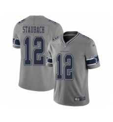 Youth Dallas Cowboys #12 Roger Staubach Limited Gray Inverted Legend Football Jersey