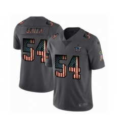 Men's Dallas Cowboys #54 Jaylon Smith Limited Black USA Flag 2019 Salute To Service Football Jersey