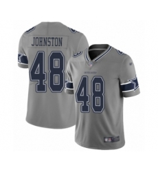 Men's Dallas Cowboys #48 Daryl Johnston Limited Gray Inverted Legend Football Jersey