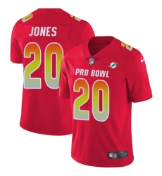 Men's Nike Miami Dolphins #20 Reshad Jones Limited Red 2018 Pro Bowl NFL Jersey