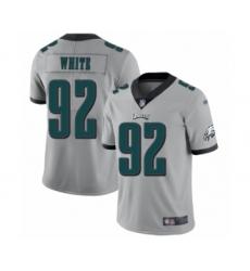 Women's Philadelphia Eagles #92 Reggie White Limited Silver Inverted Legend Football Jersey