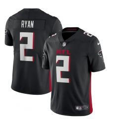 Men's Atlanta Falcons #2 Matt Ryan Nike Black Vapor Limited Jersey