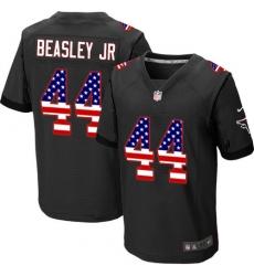 Men's Nike Atlanta Falcons #44 Vic Beasley Elite Black Alternate USA Flag Fashion NFL Jersey