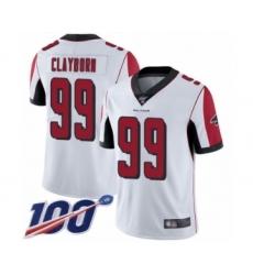 Men's Atlanta Falcons #99 Adrian Clayborn White Vapor Untouchable Limited Player 100th Season Football Jersey