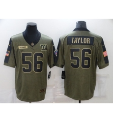 Men's New York Giants #56 Lawrence Taylor Nike Olive 2021 Salute To Service Limited Player Jersey