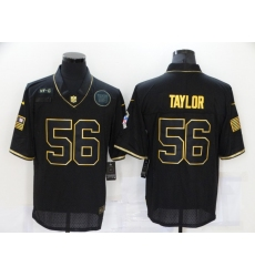 Men's New York Giants #56 Lawrence Taylor Olive Gold Salute To Service Limited Jersey