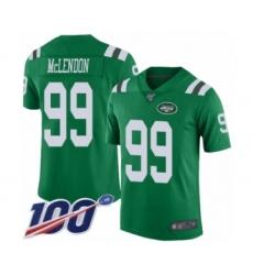 Men's New York Jets #99 Steve McLendon Limited Green Rush Vapor Untouchable 100th Season Football Jersey