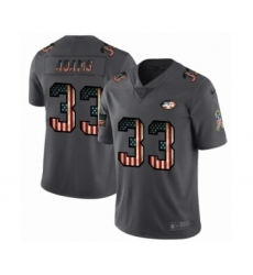 Men's New York Jets #33 Jamal Adams Limited Black USA Flag 2019 Salute To Service Football Jersey