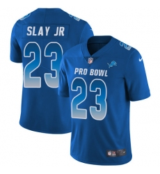 Men's Nike Detroit Lions #23 Darius Slay Limited Royal Blue 2018 Pro Bowl NFL Jersey