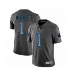 Men's Carolina Panthers #1 Cam Newton Limited Gray Static Fashion Limited Football Jersey