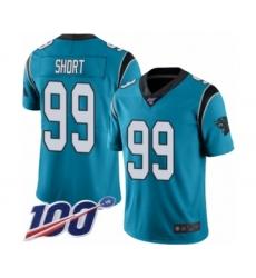 Men's Carolina Panthers #99 Kawann Short Blue Alternate Vapor Untouchable Limited Player 100th Season Football Jersey