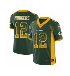 Men's Nike Green Bay Packers #12 Aaron Rodgers Limited Green Rush Drift Fashion NFL Jersey