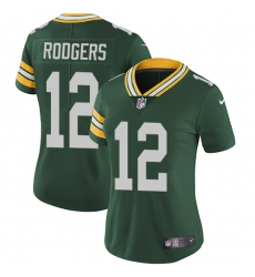 Women's Nike Green Bay Packers #12 Aaron Rodgers Elite Green Team Color NFL Jersey