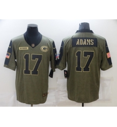Men's Green Bay Packers #17 Davante Adams Nike Olive 2021 Salute To Service Limited Player Jersey