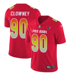 Youth Nike Houston Texans #90 Jadeveon Clowney Limited Red 2018 Pro Bowl NFL Jersey