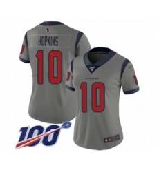 Women's Nike Houston Texans #10 DeAndre Hopkins Limited Gray Inverted Legend 100th Season NFL Jersey