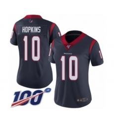 Women's Nike Houston Texans #10 DeAndre Hopkins Navy Blue Team Color Vapor Untouchable Limited Player 100th Season NFL Jersey