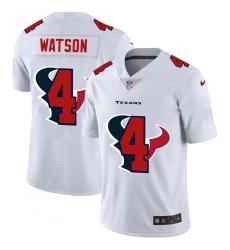 Men's Houston Texans #4 Deshaun Watson White Nike White Shadow Edition Limited Jersey