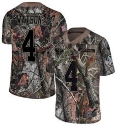 Men's Nike Houston Texans #4 Deshaun Watson Limited Camo Rush Realtree NFL Jersey