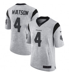 Men's Nike Houston Texans #4 Deshaun Watson Limited Gray Gridiron II NFL Jersey
