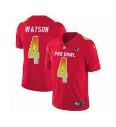 Youth Houston Texans #4 Deshaun Watson Limited Red AFC 2019 Pro Bowl Football Jersey